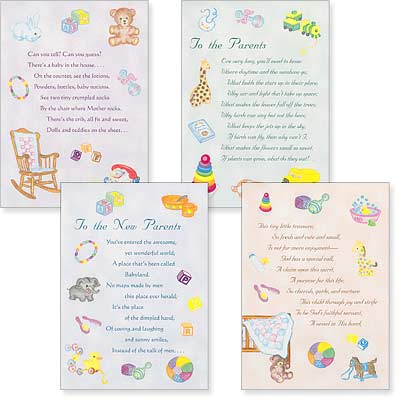 Baby Cards - God's Gift - Set of 4