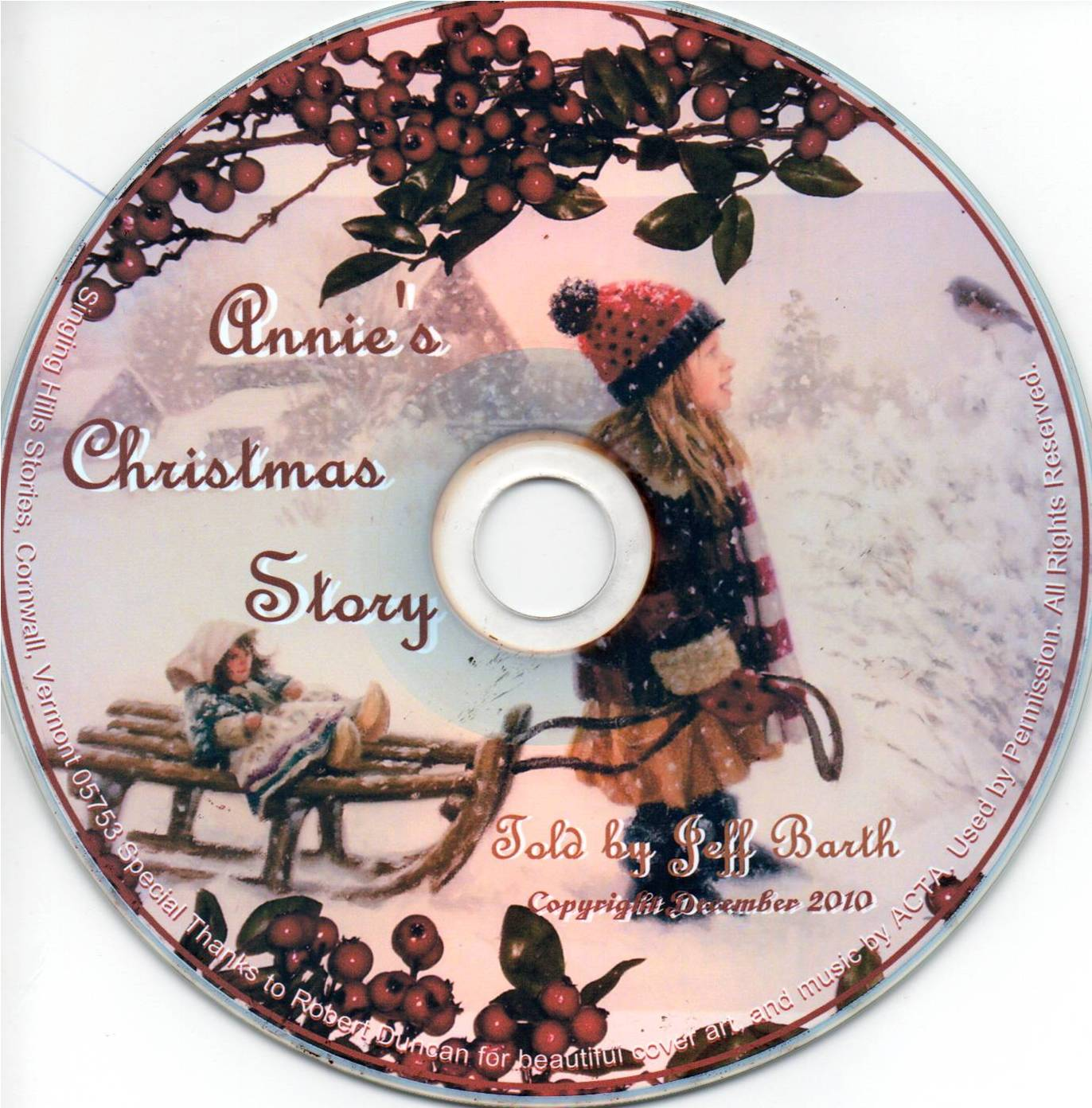CD - Annie's Christmas Story
