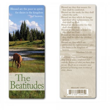 Bookmark (Jumbo) - The Beattitudes