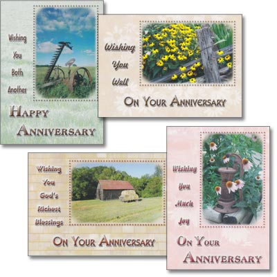 Rod and staff publishers heart and home online store anniversary cards country life set of 4 m4hsunfo