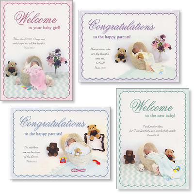 Baby Cards - Little Miracle - Set of 4