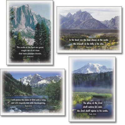 Birthday Cards - Mountain Praise - Set of 4