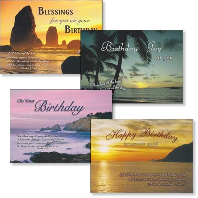 Birthday Cards - Seascapes - Set of 4