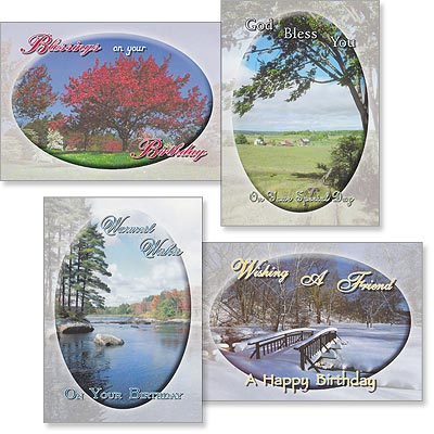 Birthday Cards - Seasonal Beauty - Set of 4