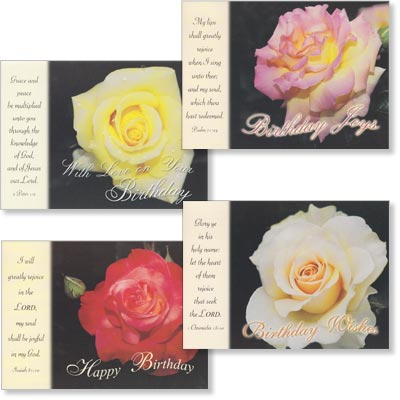 Birthday Cards - Velvet Fragrance - Set of 4