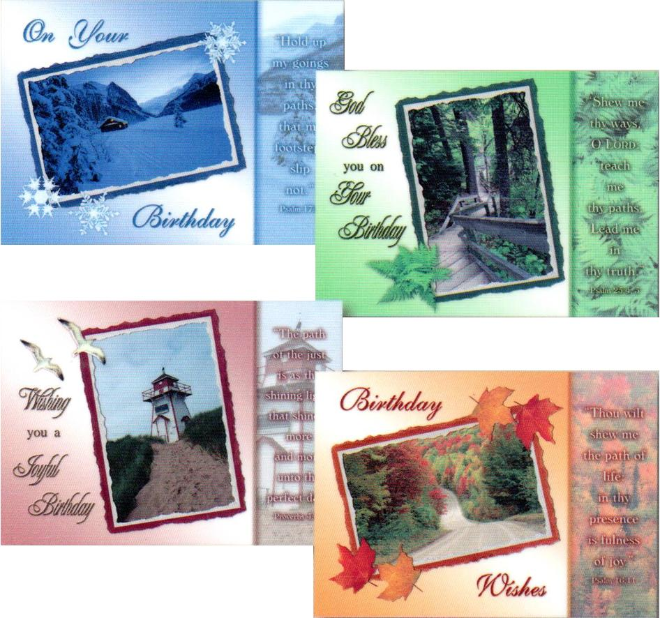 Birthday Cards - Peaceful Paths - Set of 4