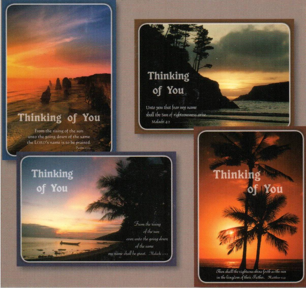 Thinking of You Cards - Quiet Thoughts - Set of 4 NEW!!!