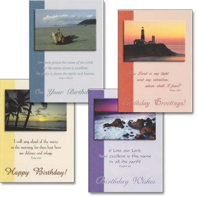 Birthday Cards - Scenic Shores - Set of 4