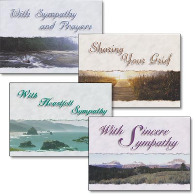 Sympathy Cards - Misty Morning - Set of 4
