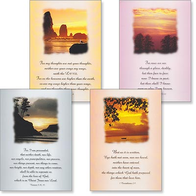 Sympathy Cards - Silver Lining - Set of 4