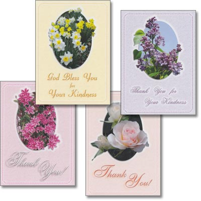 Thank You Cards - Springtime Splendor - Set of 4