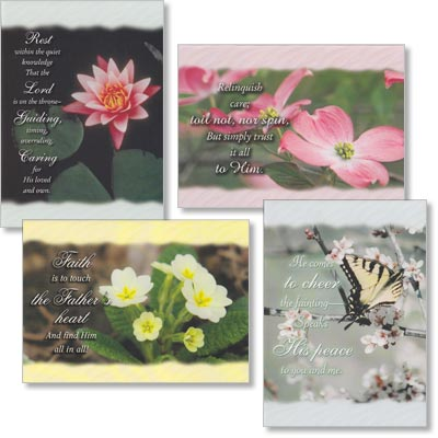 Thinking of You Cards - Rest In His Care - Set of 4