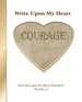 Write Upon My Heart: Courage Character Book