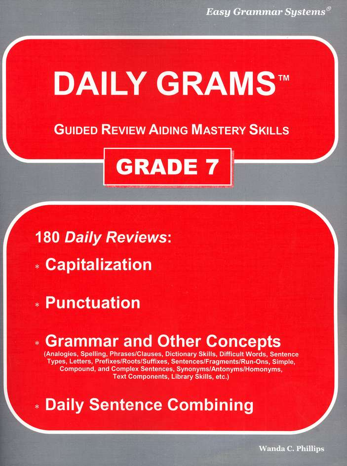 Grade 7 Daily Grams: Guided Review Aiding Mastery Skills