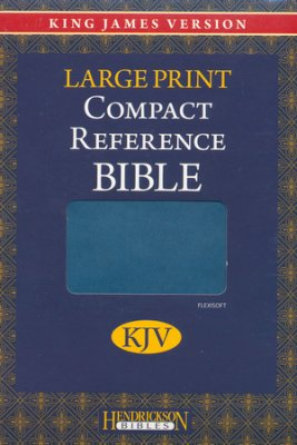 KJV Large Print Compact Reference Bible Flexisoft Leather - Blue