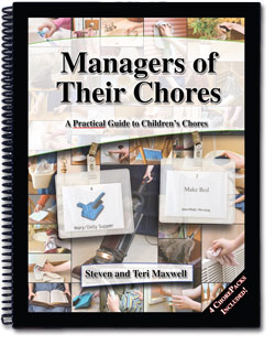 Manager of Their Chores Book with Chores Kit for 4 Children
