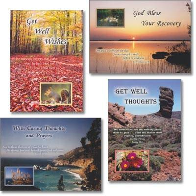 Get Well Cards - Nature's Majesty - Set of 4