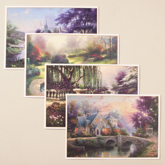 Thank You Cards - Thomas Kinkade - Set of 4