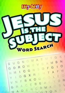 itty-bitty Jesus is the Subject Word Search Book NEW!!!