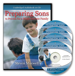 Preparing Sons (Audiobook) CD Album